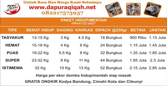 harga-paket-aqiqah-murah-Bandung-dapur-aqiqah-mentah